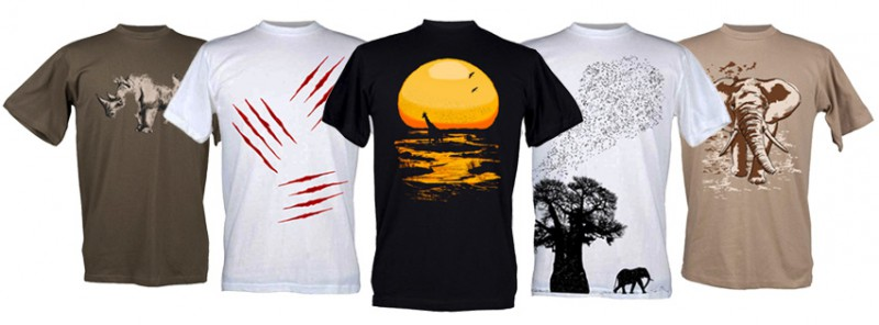 Nature inspired t-shirts where photography meets design