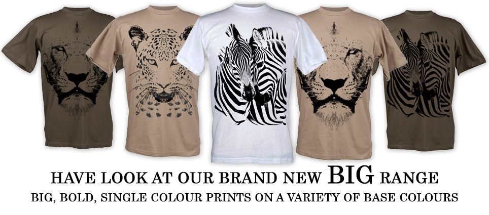 Brand New Big Range Wildlife T Shirts