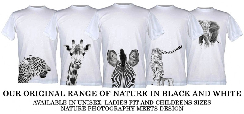 Black and White Wildlife T-Shirts